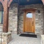 Fairfax Real Thin Stone Veneer Front Porch