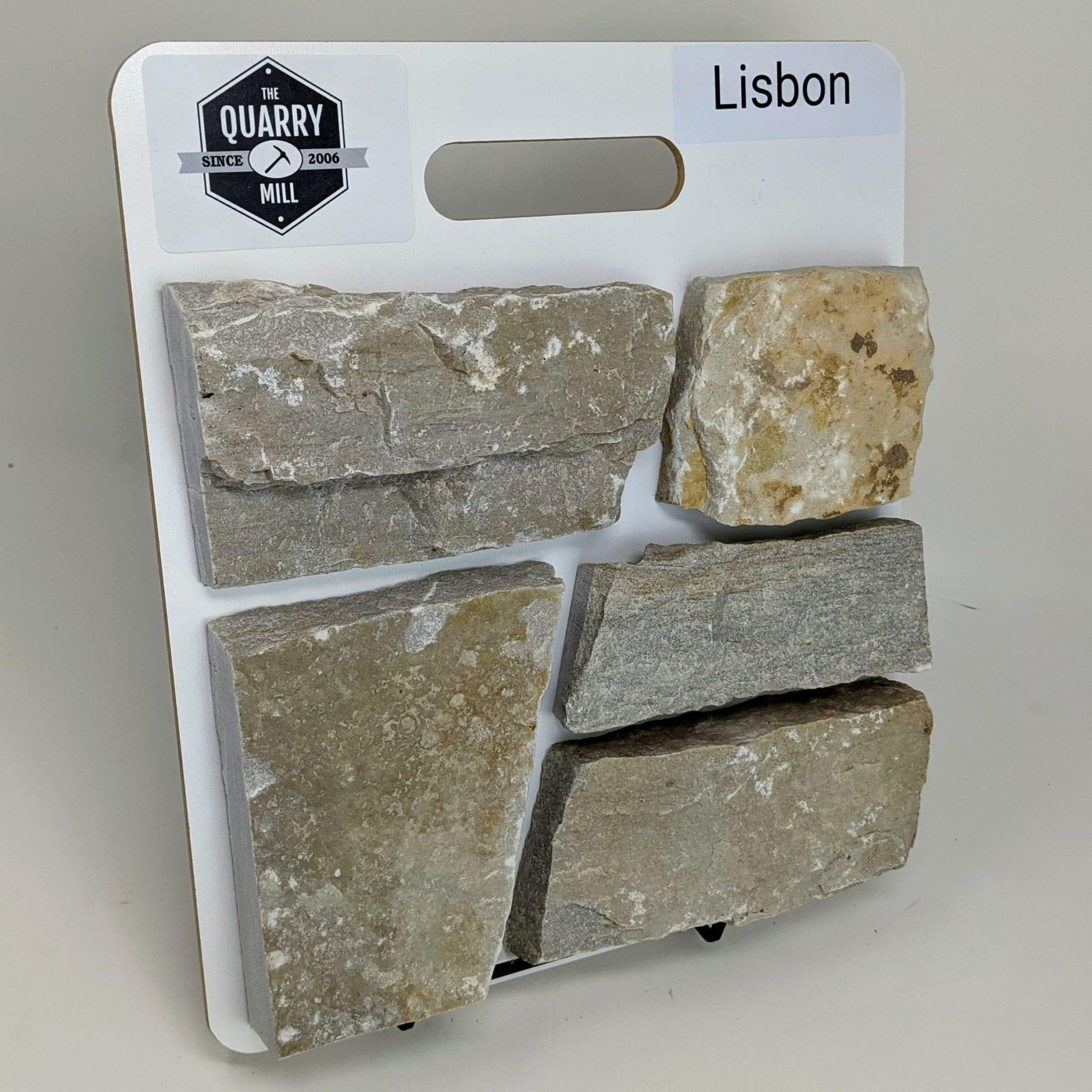Lisbon Natural Stone Veneer Sample Board