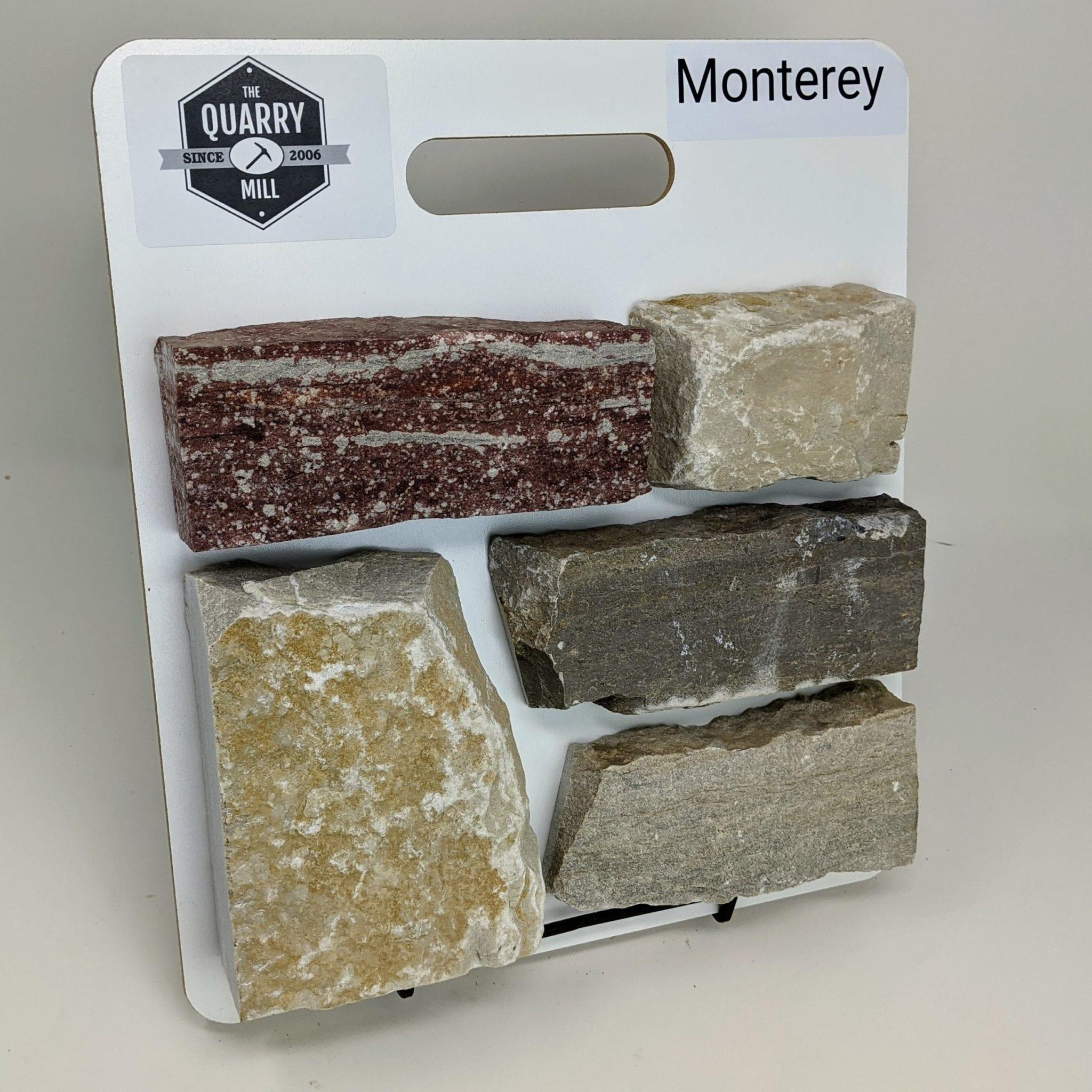 Monterey Natural Stone Veneer Sample Board