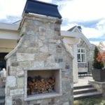 Olympia Natural Thin Stone Veneer Fireplace