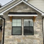 Roanoke Custom Dark Natural Stone Veneer Accent Wall