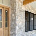 Roanoke Natural Thin Stone Veneer Front Porch