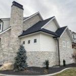 Roanoke Natural Thin Stone Veneer Home Exterior