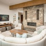 Sumpter Real Stone Veneer Interior Fireplace