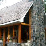 Astoria Real Thin Stone Veneer Chimney