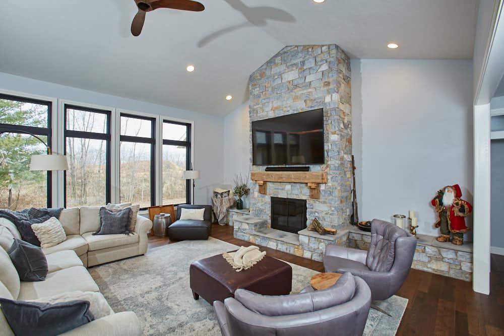 Chamberlain Natural Thin Stone Veneer Interior Design
