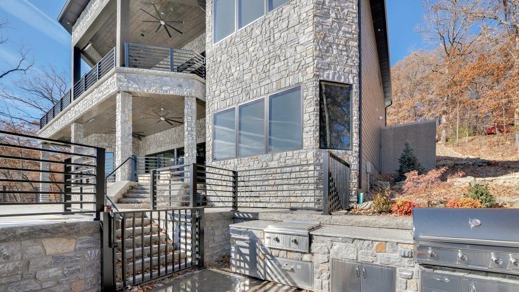 Chamberlain Real Stone Veneer Outdoor Living Grill
