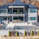 Chamberlain Real Thin Stone Veneer Back View of House