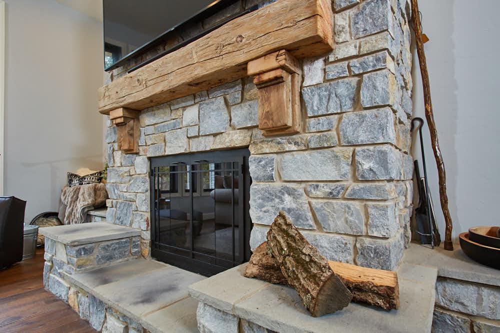 Chamberlain Real Thin Stone Veneer Fireplace