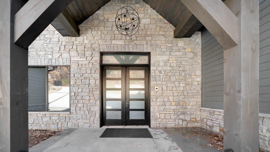 Chamberlain Thin Stone Veneer Front Entrance
