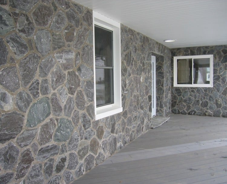 Concord Real Thin Stone Veneer Covered Patio
