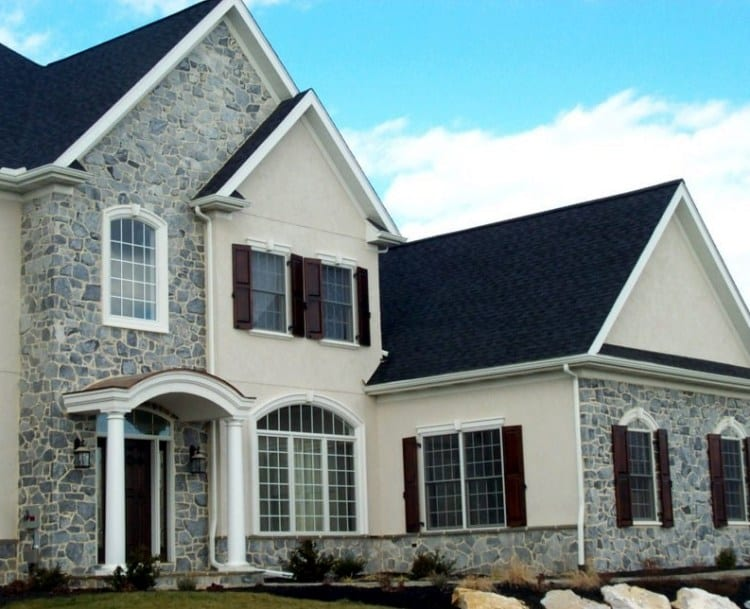 Concord Thin Stone Veneer Exterior Accent Wall