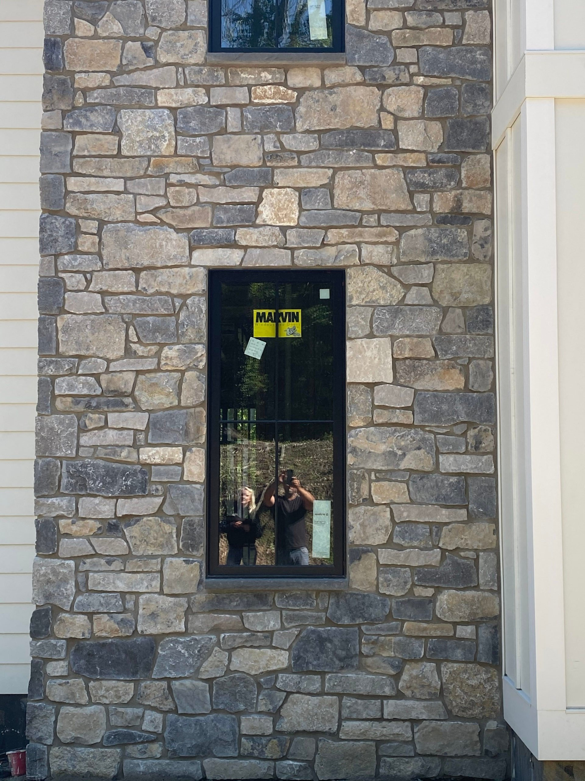 Custom Balkan and Jura Blend Real Thin Stone Veneer Accent Wall