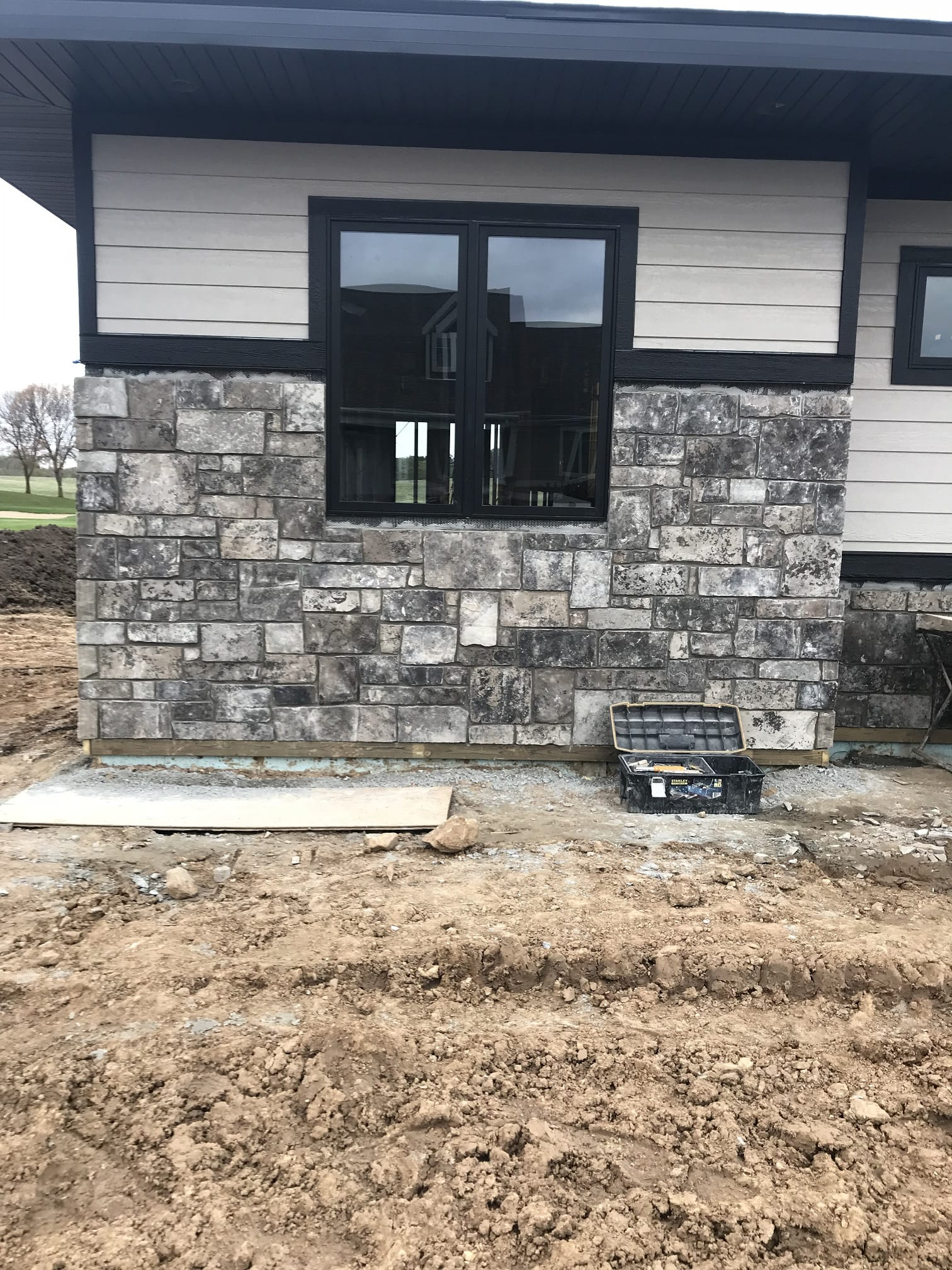 Home exterior with Galaxy real stone veneer