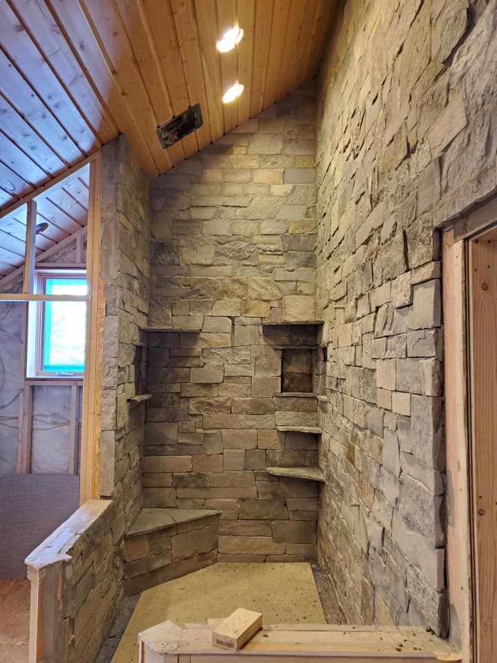 Glacier Ridge Real Thin Stone Veneer Shower
