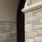 Joliet Natural Thin Stone Veneer Front Entrance Close-Up