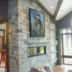 Logan Real Thin Stone Veneer Double Sided Fireplace