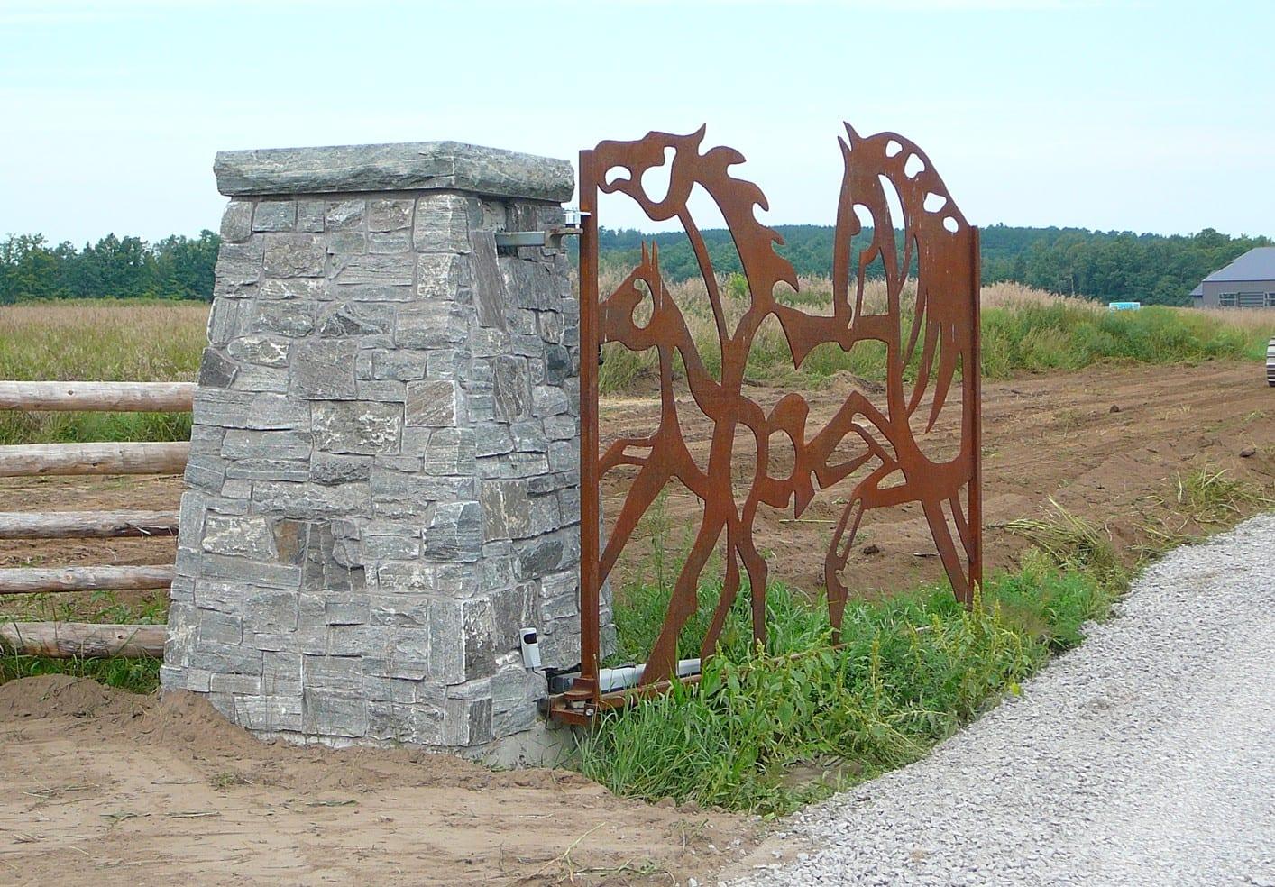Logan Real Thin Stone Veneer Gate