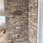 Melbourne Real Thin Stone Veneer Front Entrance