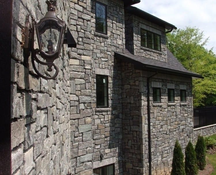Monroe Natural Thin Stone Veneer Exterior Siding
