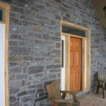 Monroe Natural Thin Stone Veneer Front Entrance