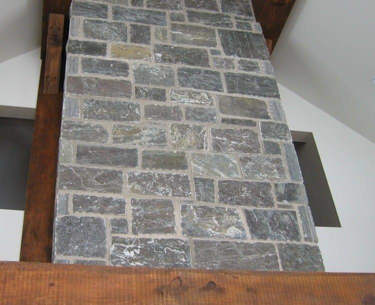 Monroe Real Thin Stone Veneer Fireplace