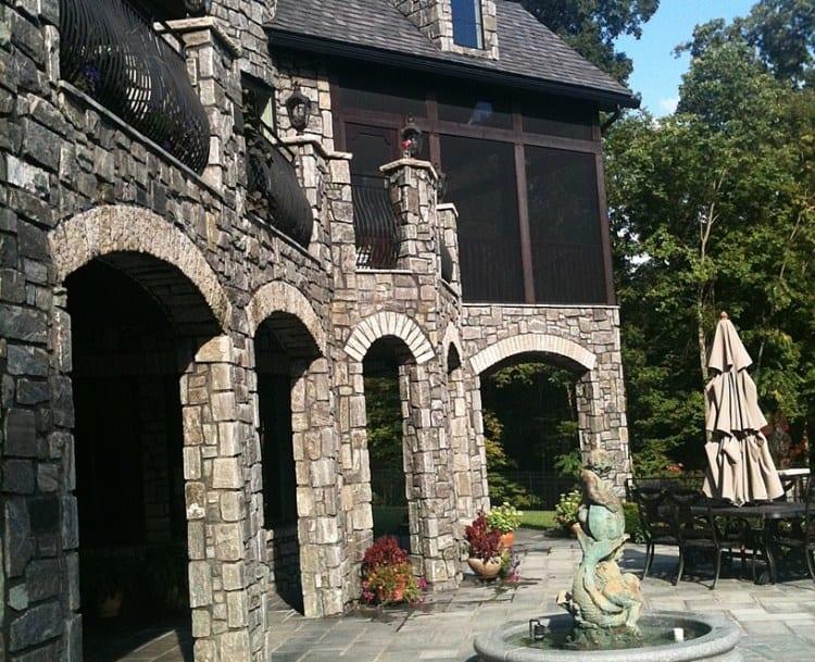 Monroe Real Thin Stone Veneer Home Exterior