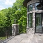 Monroe Real Thin Stone Veneer Turret