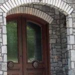 Monroe Thin Stone Veneer Front Entrance