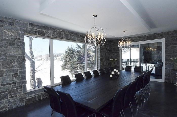 Pembroke Natural Thin Stone Veneer Dining Room