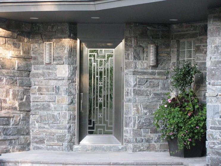 Pembroke Real Thin Stone Veneer Front Entrance