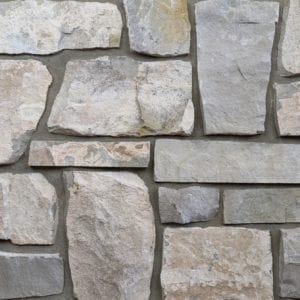 Roanoke Natural Thin Stone Veneer Mock-Up