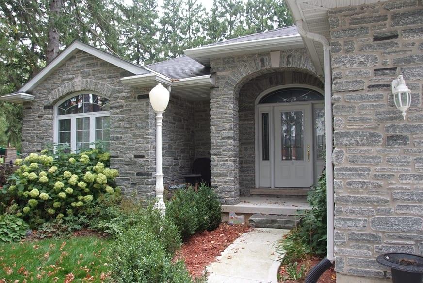 Seaside Real Thin Stone Veneer Front Entrance