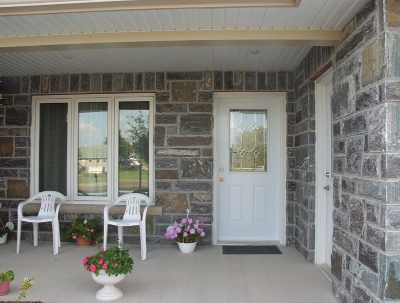 Stockholm Real Thin Stone Veneer Front Porch