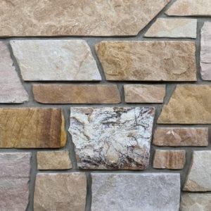Sunset Dimensional Style Real Stone Veneer Mock-Up