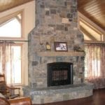 Vancouver Natural Stone Veneer Fireplace