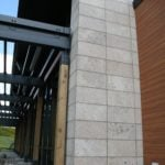 Manchester Real Thin Stone Veneer Commercial Accent Wall Close-Up
