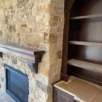 Mojave Natural Thin Stone Veneer Interior Fireplace