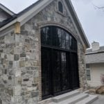 Olympia Fieldledge Style Real Stone Veneer Home Exterior with Overgrout