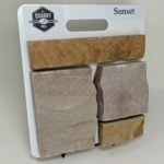 Sunset Thin Stone Veneer Sample Board