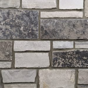 Graphite Real Thin Stone Veneer Mock-Up