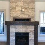 Tenbury Natural Stone Veneer Interior Gas Fireplace
