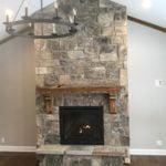 Whistler Natural Stone Veneer Interior Fireplace