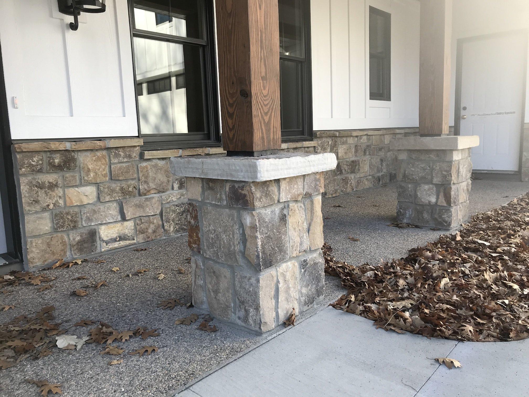 Whistler Real Thin Stone Veneer Wainscoting and Pillars