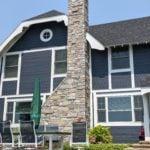 Avondale Natural Thin Stone Veneer Exterior Chimney