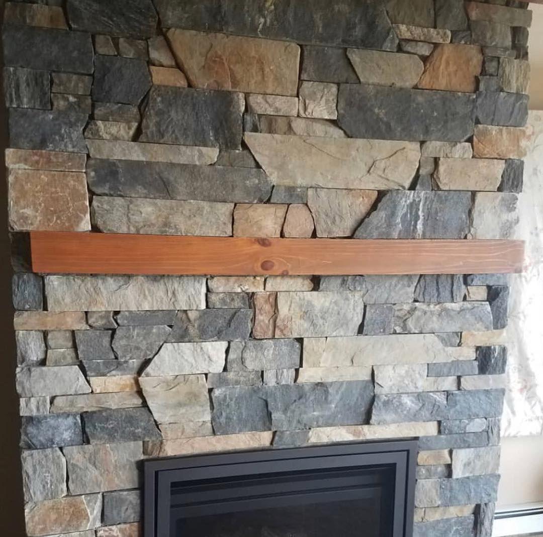 Danbury Dimensional Ledgestone Natural Thin Veneer Fireplace