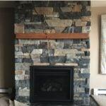 Danbury Real Thin Stone Veneer Drystack Fireplace