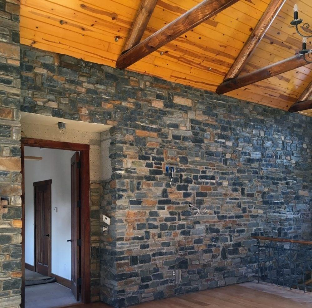 Verona, Quincy, Ebony Ridge, and Belingham Blend Real Stone Veneer Interior Wall
