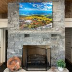 Atchison Natural Thin Stone Veneer Fireplace