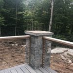 Atchison Real Stone Veneer Custom Patio with Tans